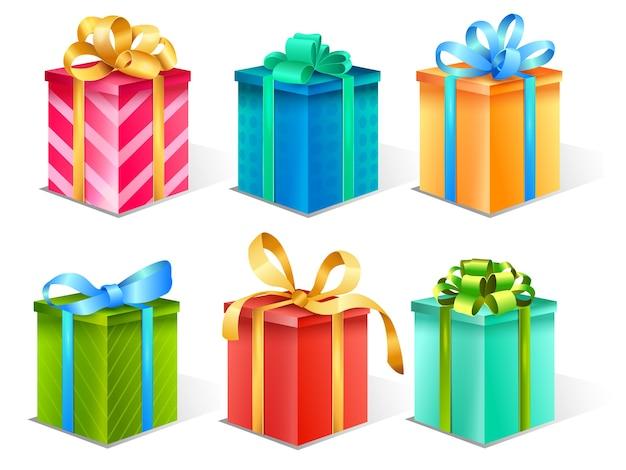Realistic gift box set