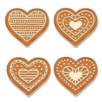 Реалистичная коллекция сердца из говядины