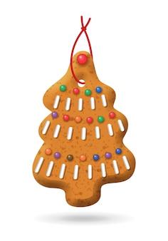 リアルなジンジャーブレッドのクリスマスツリー