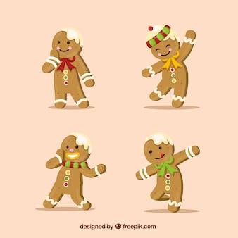 Realistic gingerbread man cookies