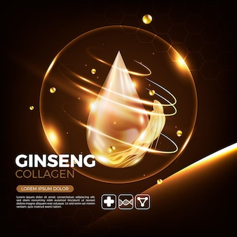 Realistic ginseng ad concept