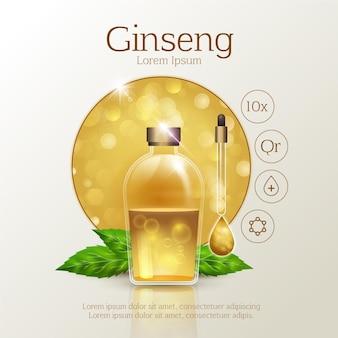 Realistic ginseng ad
