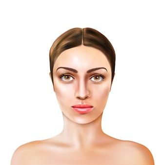 Realistic girl model