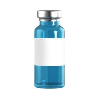 Реалистичные стеклянные ампулы с лекарством для инъекций вакцины. коронавирус инфекция