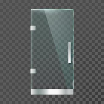 Realistic glass door