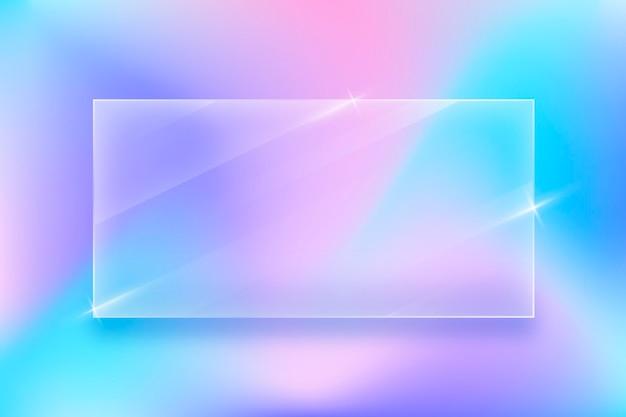 Реалистичный стеклянный эффект фона