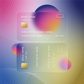 Realistic glass effect credit card