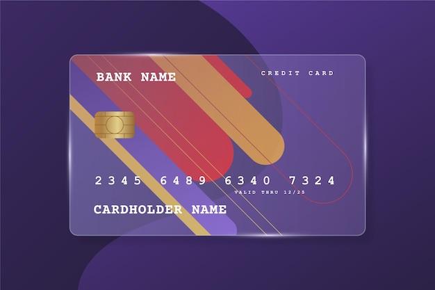 リアルなガラス効果のクレジットカード
