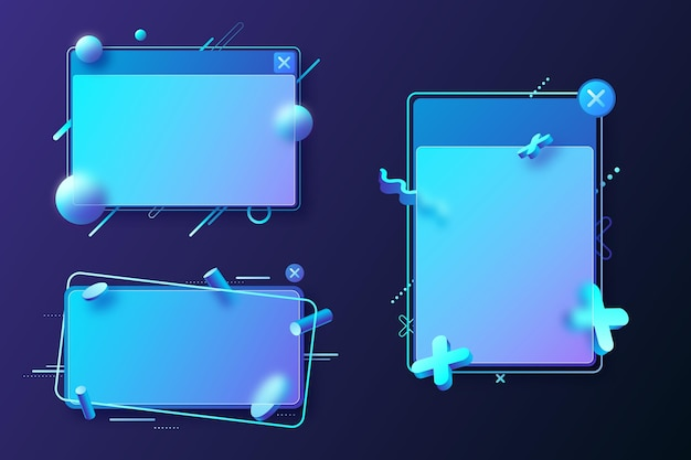 Carta di credito effetto vetro realistico