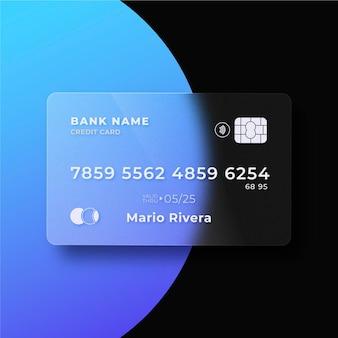 현실적인 유리 효과 신용 카드