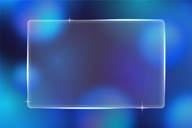 Realistic glass effect wallpaper