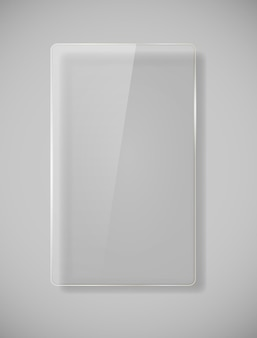 Реалистичные стеклянные рамы. векторные иллюстрации