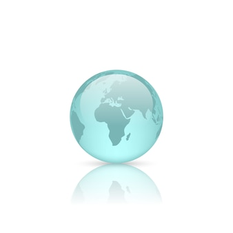 Realistic glass globe