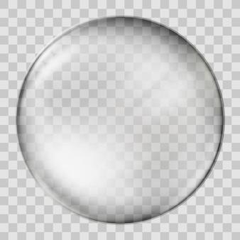 Realistic glass sphere.