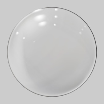 Realistic glass sphere