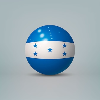 Realistic glossy plastic ball with flag of