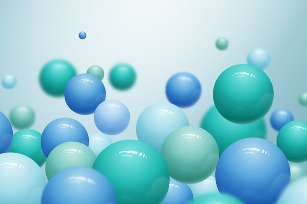 Realistic glossy plastic balls background