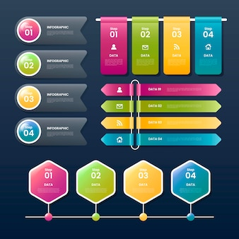 Реалистический шаблон инфографического шаблона