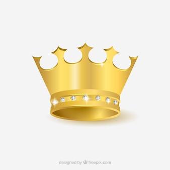 Реальная золотая корона с бриллиантами