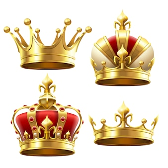 Realistic gold crown