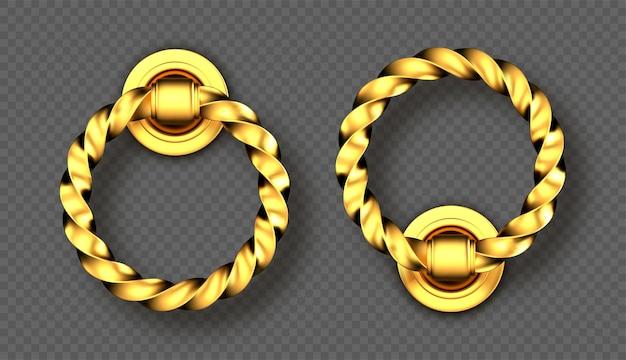Реалистичные золотые дверные молотки