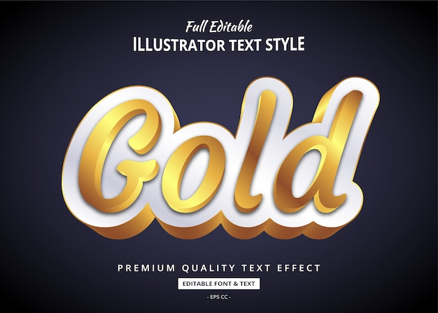 Realistic gold elegant  text style effect