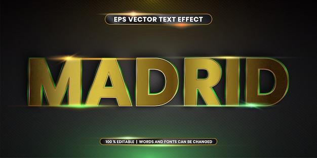 Реалистичный золотой текстовый эффект