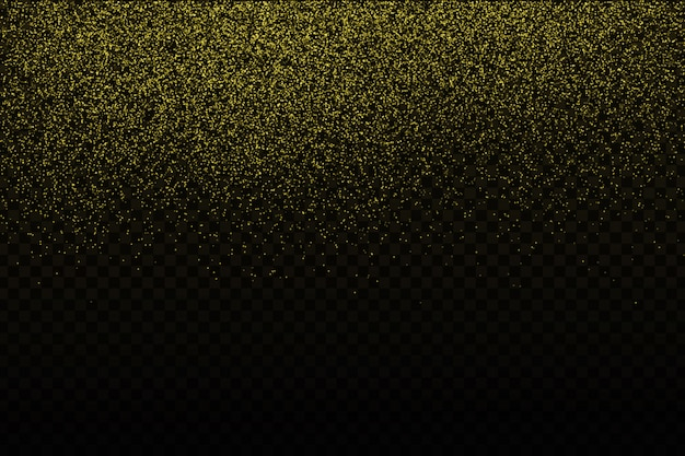 Realistic  golden confetti on the transparent background. concept of happy birthday, party and holidays.