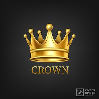 Realistic golden crown