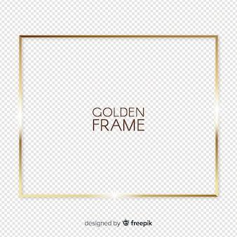 Realistic golden frame