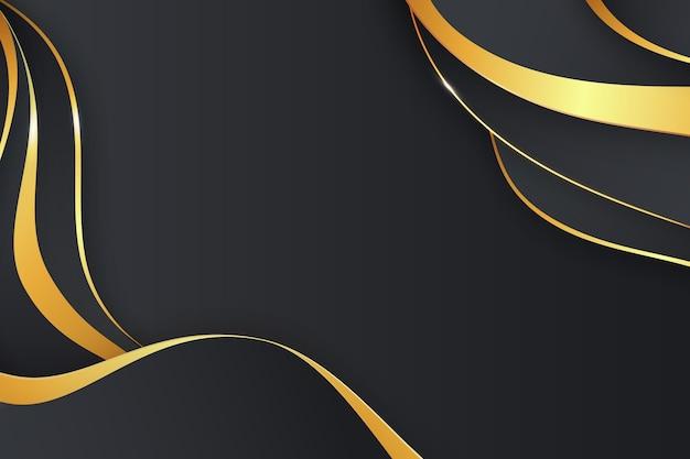 Realistic golden luxury background