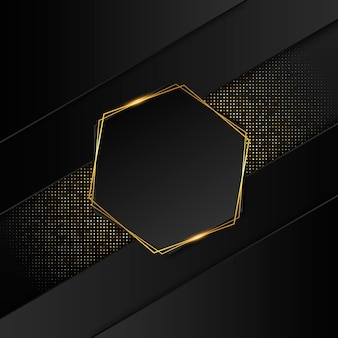 Realistic golden luxury frame