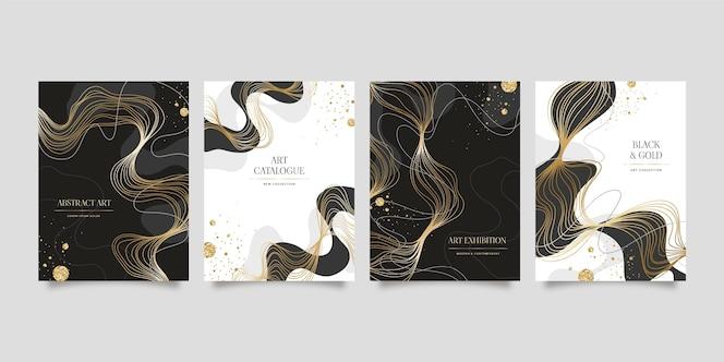 Реалистичный золотой роскошный дизайн плаката