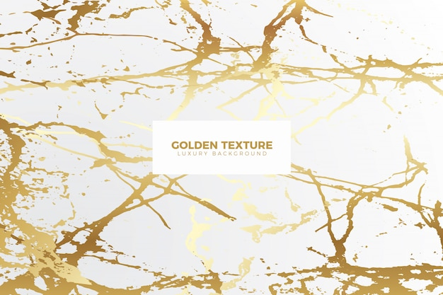 Realistic golden marble background