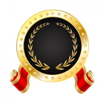 Realistic golden medal