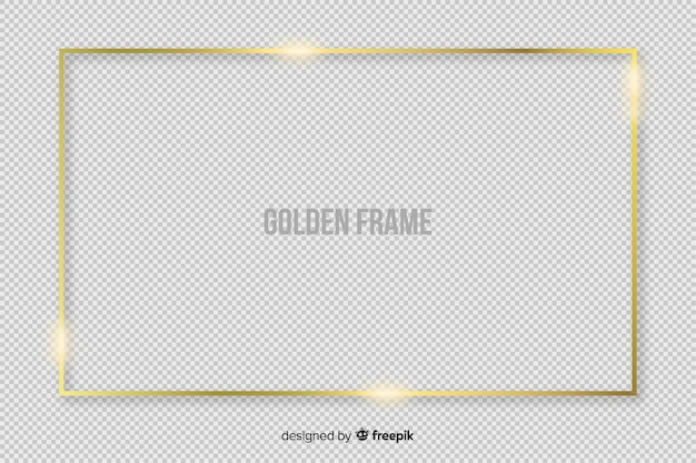 Realistic golden rectangle frame