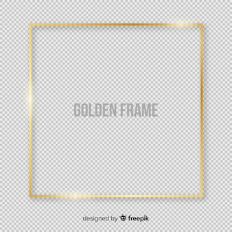 Realistic golden squared frame