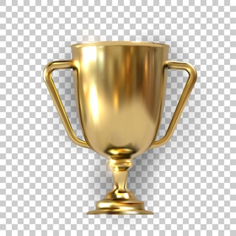 Realistic golden trophy with text space,  illustration