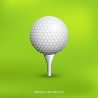 Realistic golf ball background