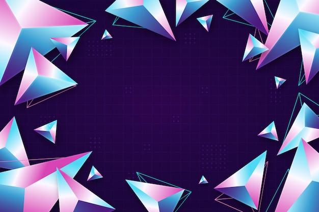 リアルなグラデーション多角形の背景
