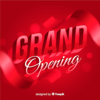 Realistic grand opening background