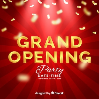 Realistic grand opening decorative background
