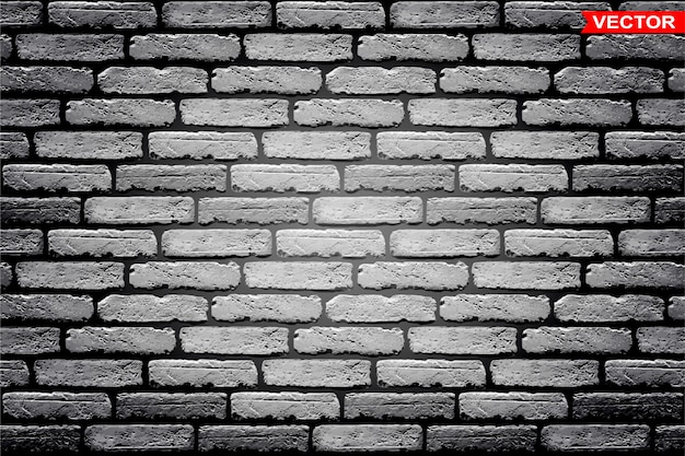 Realistic gray brick wall texture background