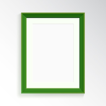 A realistic green frame for photography or painting.