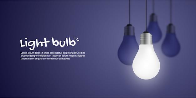 Realistic growing light bulb