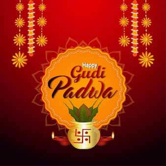 Realistic gudi padwa celebration event
