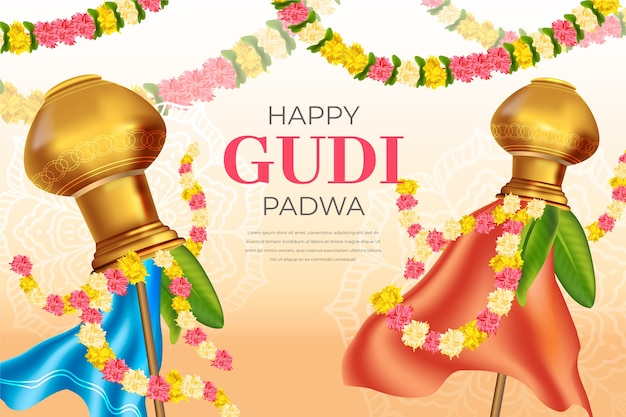 Realistic gudi padwa day celebration