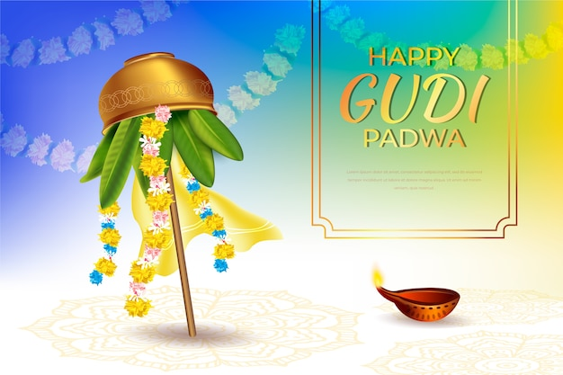 Realistic gudi padwa day event