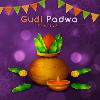 Realistic gudi padwa festival