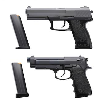 Realistic guns set